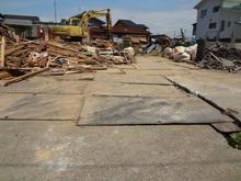 工事中② 木造上物解体中
